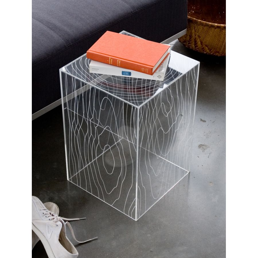 Design Acrylic Side Table rustic clear wewastetime timber table