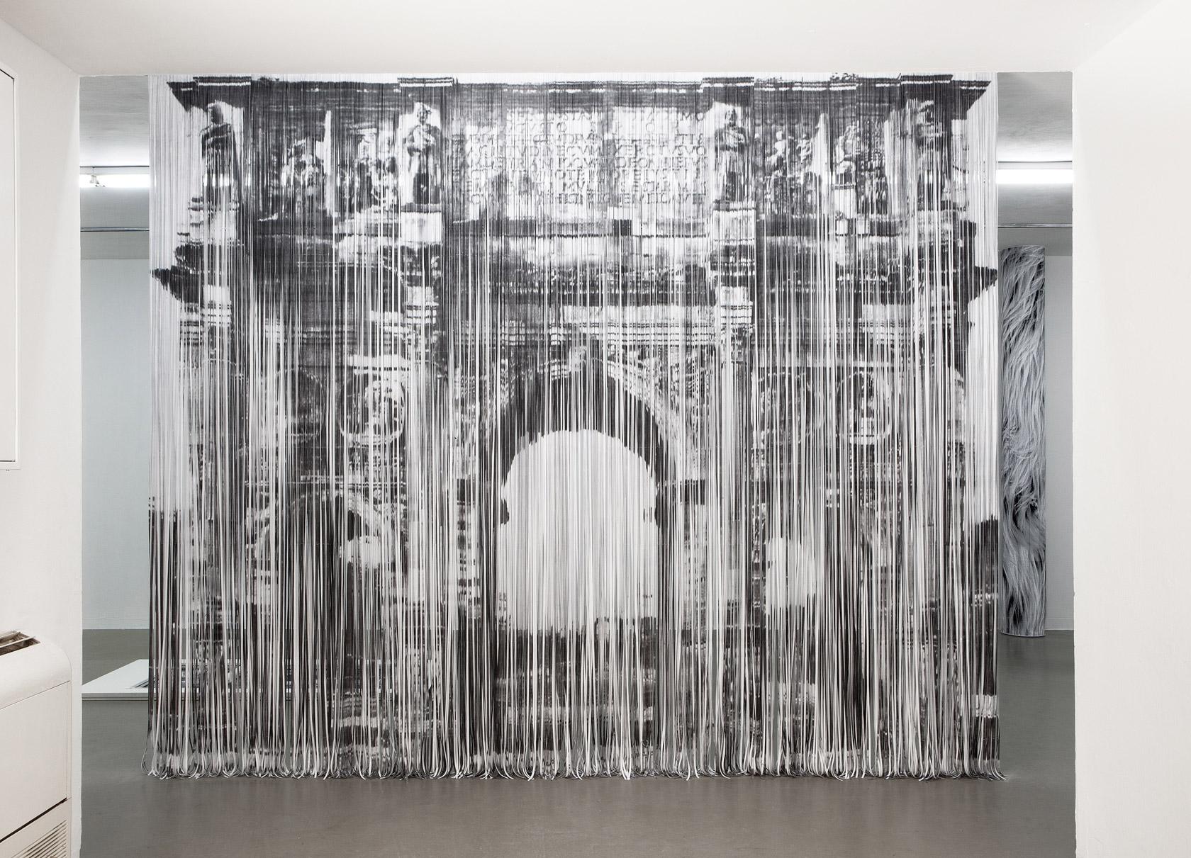 Shredded Xerox Prints Curtain Part Of The Installation EL AL From Artist Naama Arad At Midrasha Gallery Art Tel Aviv Photos By Liat Albling