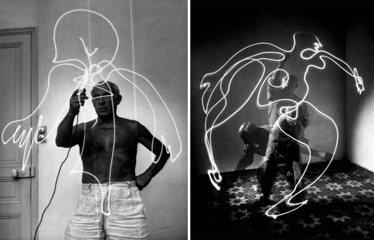 picasso light drawings 1949 c
