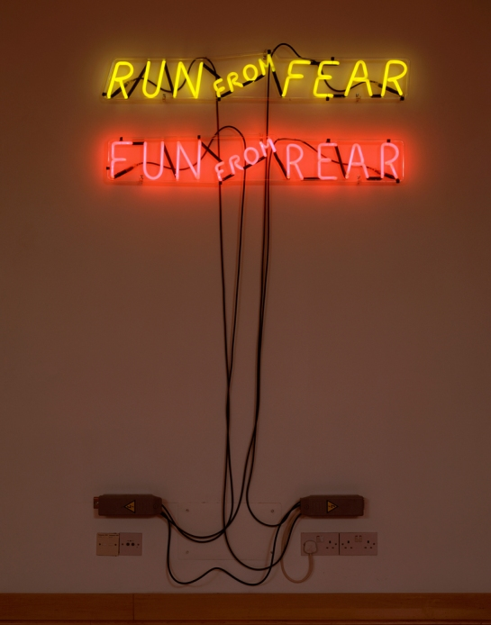 Bruce Nauman, Run from Fear, Fun from Rear, 1972