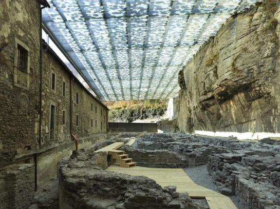 Savioz Fabrizzi Architectes . Coverage of the archaeological ruins . Saint Maurice (1)