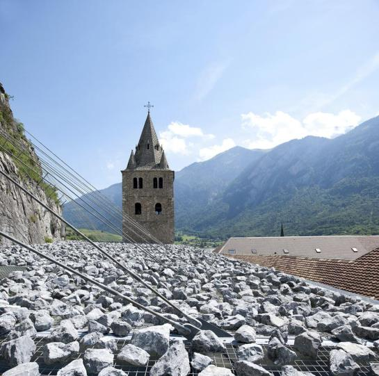 Savioz Fabrizzi Architectes . Coverage of the archaeological ruins . Saint Maurice (2)