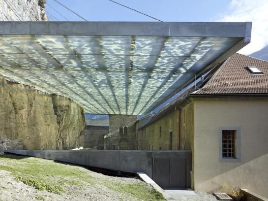 Savioz Fabrizzi Architectes . Coverage of the archaeological ruins . Saint Maurice (5)