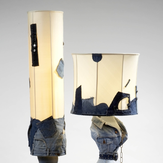 Mattia Bonetti denim lamp 2