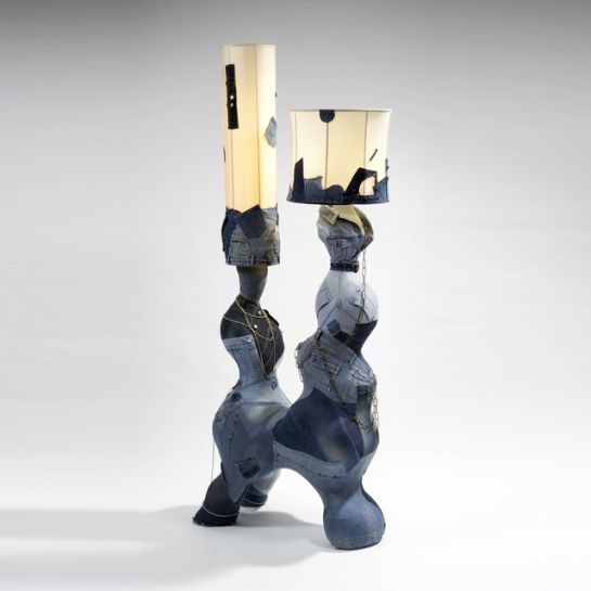 Mattia Bonetti denim lamp