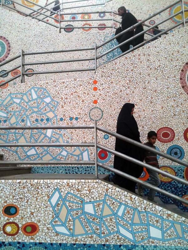 Mehdi Ghadyanloo Valiasr Stairs 4