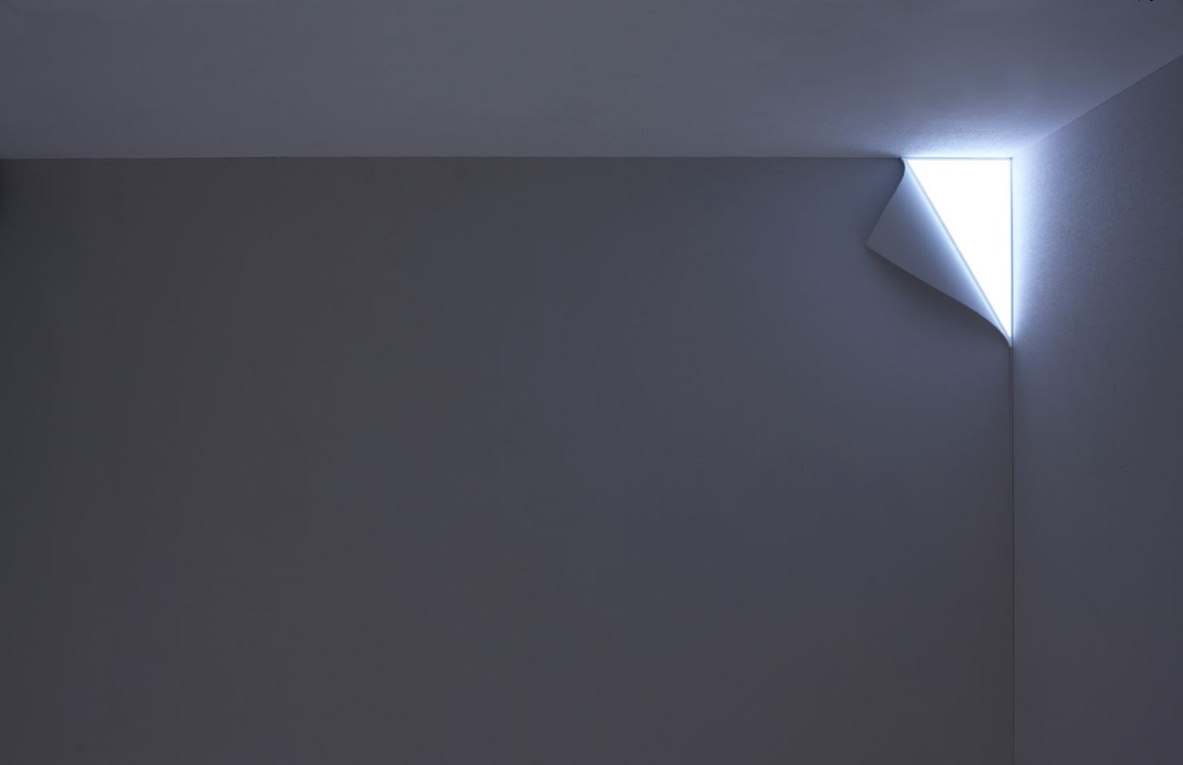 corner lighting. OLED Corner Wall Light From Tokyo Based Design Studio YOY, Composed By Spatial Designer Naoki Ono And Product Yuki Yamamoto. Lighting