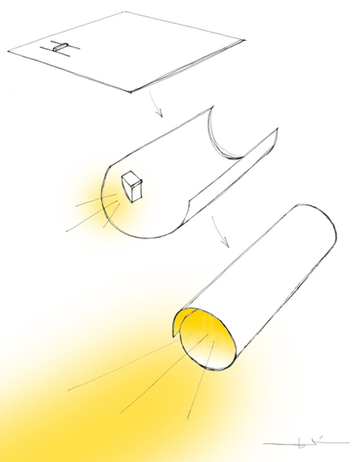 kazuhiro yamanaka paper-LED-torch-light 4