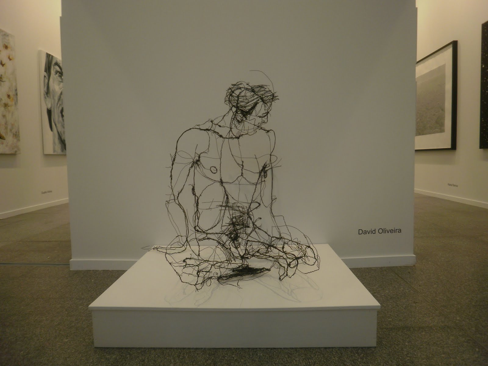 Wire sculptures david oliveira wewastetime for 3d sketch online