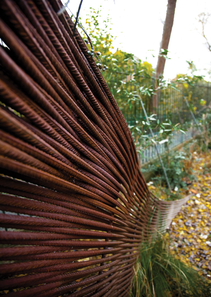 Groves Raines Architects, rebar Composting Shed