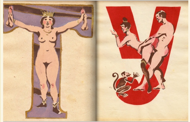 adullt alphabet book by Sergey Merkurov, 1931 7