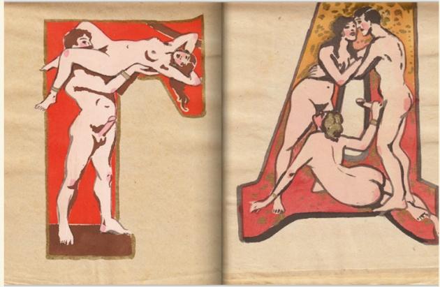 adullt alphabet book by Sergey Merkurov, 1931 bp
