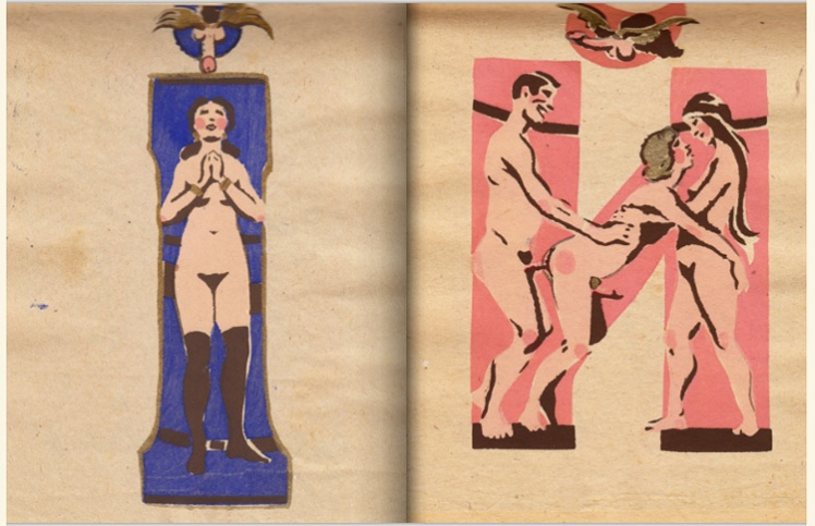 adullt alphabet book by Sergey Merkurov, 1931 i