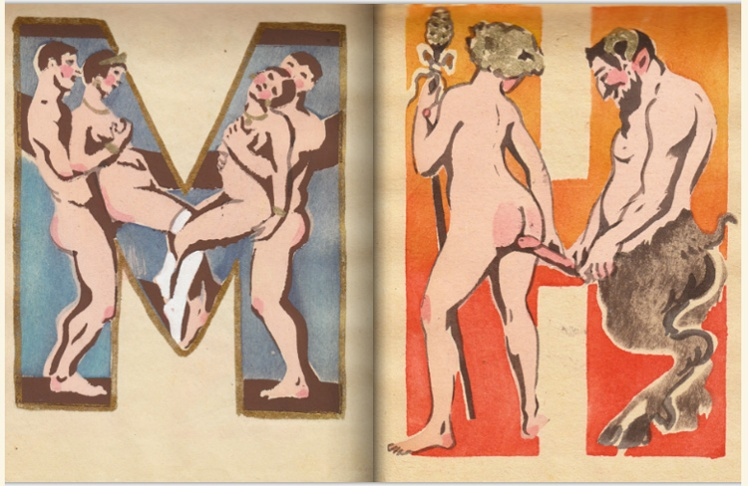 adullt alphabet book by Sergey Merkurov, 1931 m