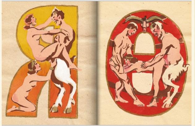 adullt alphabet book by Sergey Merkurov, 1931 r