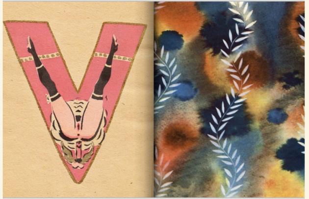 adullt alphabet book by Sergey Merkurov, 1931 v