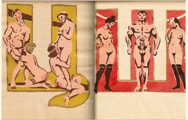 adullt alphabet book by Sergey Merkurov, 1931 w