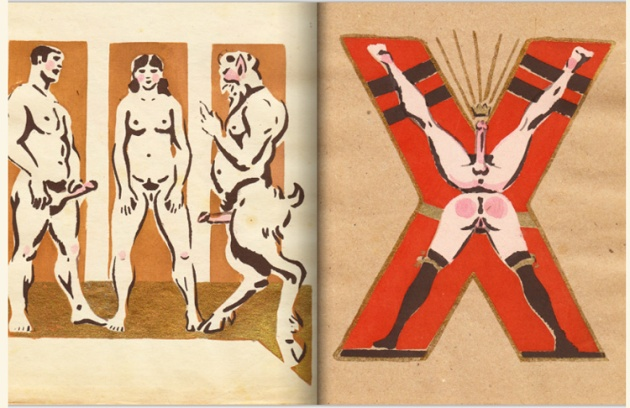adullt alphabet book by Sergey Merkurov, 1931 x