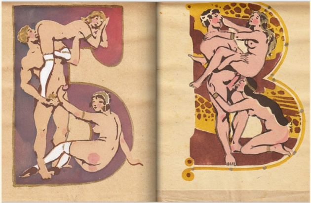 adullt alphabet book by Sergey Merkurov, 1931 .