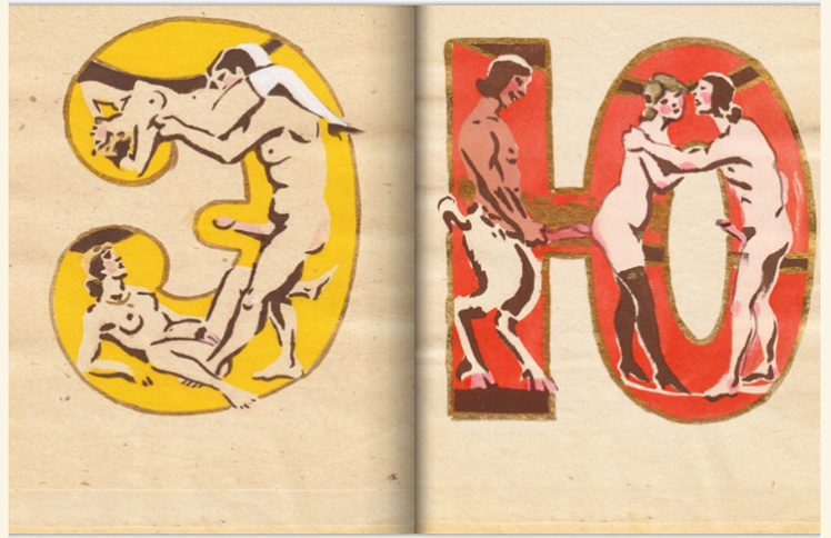 adullt alphabet book by Sergey Merkurov, 1931
