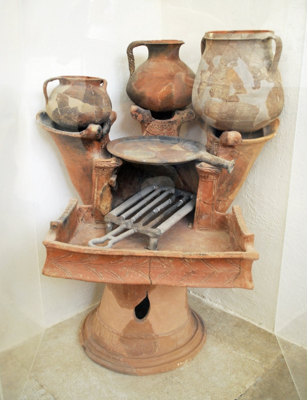 ancient greek stove -delos island