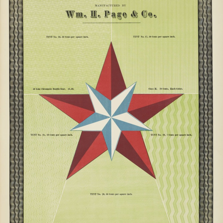 Specimens of Chromatic Wood Type Page 1874 star
