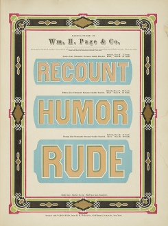 Specimens of Chromatic Wood Type Wm.Page 3