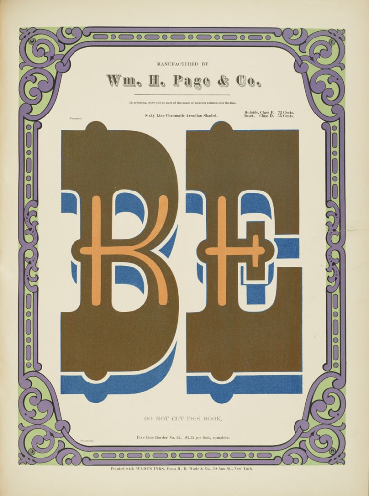 Specimens of Chromatic Wood Type Wm.Page be