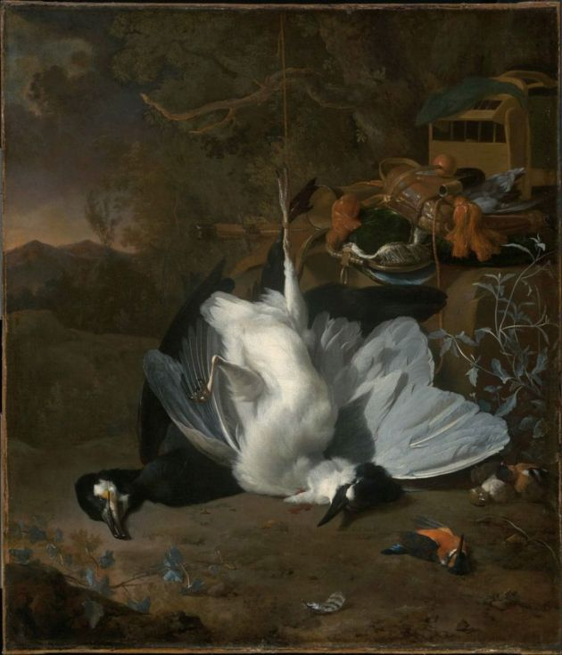 Jan Weenix, Dead Birds and Hunting Equipment