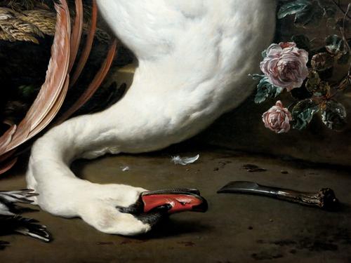 Jan_Weenix 2Un singe et un chien près de gibier mort, dtl01