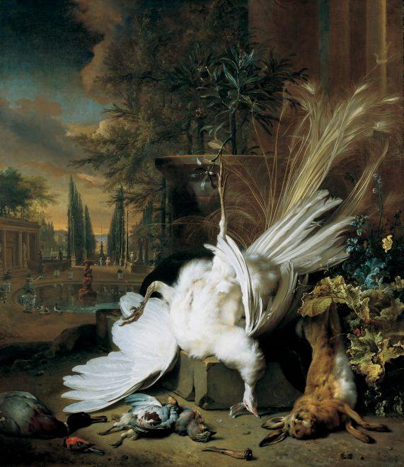 Jan_Weenix The White Peacock