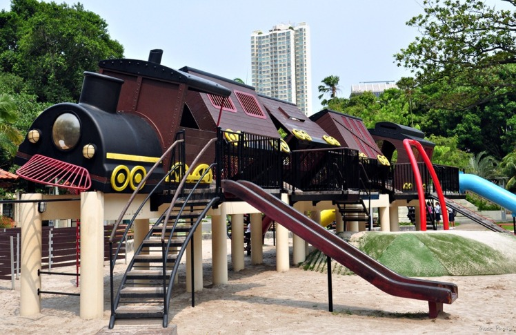 tilted train playground 2