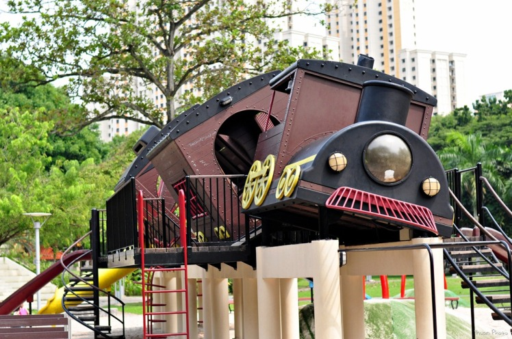 tilted train playground 3
