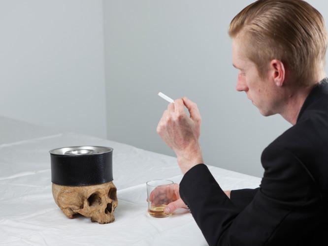 Critical + Skull Ashtray 2