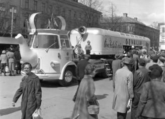Gevalia coffee brand bus