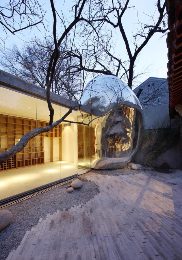 MAD Architects Hutong Bubble 32 garden view