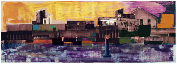 David McConochie - Canal Bank Collage Series 1a