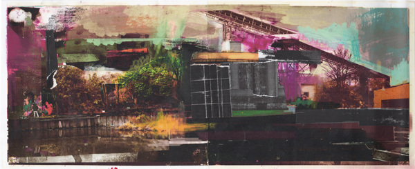 David McConochie - Canal Bank Collage Series 1c