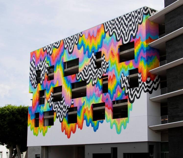 jen stark mural Technicolor Ooze 1