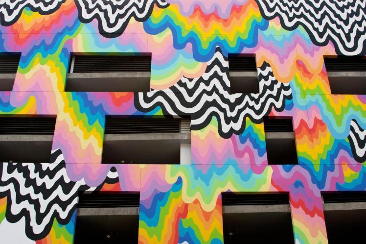 jen stark mural Technicolor Ooze 2