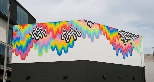 jen stark mural Technicolor Ooze 3