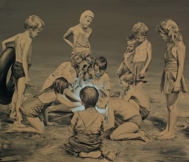 Paco Pomet Había una vez (Oil on canvas. 120 x 140 cms. 2014)