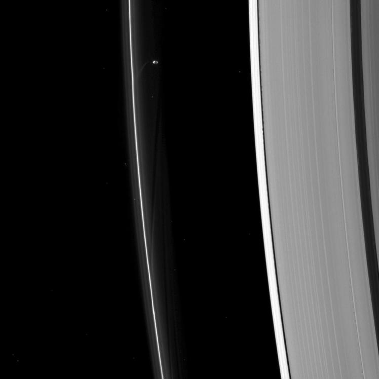 Saturn's moons Prometheus and Daphnis