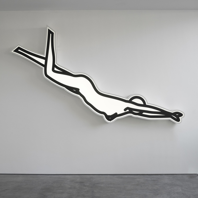 Julian Opie swimming